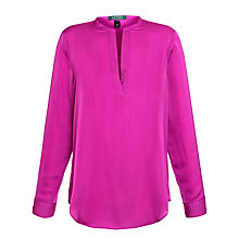 Buy Lauren by Ralph Lauren Marlen Split Neck Tunic Blouse, Athena Pink Online at johnlewis.com