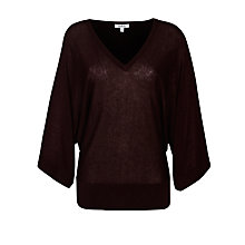 Buy Farhi by Nicole Farhi Kimono Jumper, Oxblood Online at johnlewis.com