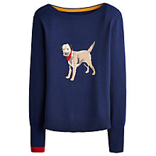 Buy Joules Marsha Dog Intarsia Jumper, Navy Online at johnlewis.com