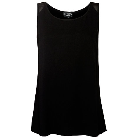 Buy Ghost Belle Vest Top, Black Online at johnlewis.com