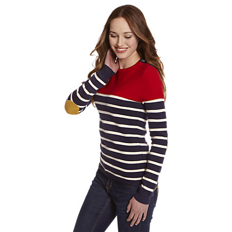 Buy Joules Norwood Stripe Jumper, Navy Stripe Online at johnlewis.com