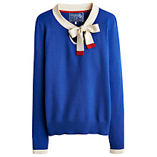 Buy Joules Sandpiper Tie Neck Jumper, Blue Online at johnlewis.com