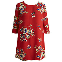 Buy Joules Beydale Floral Tunic Top, Red Bouquet Online at johnlewis.com