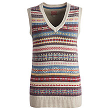 Buy Joules Alfreda Fairisle Knitted Tank, Fairisle Online at johnlewis.com