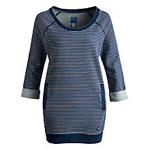 Buy Joules Dalby Oversized Sweat Top, Navy Stripe Online at johnlewis.com