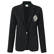 Buy Lauren by Ralph Lauren Crested Wool Blend Blazer, Grey Online at johnlewis.com
