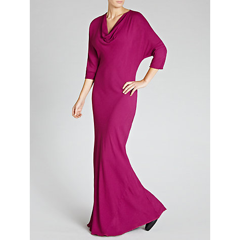 Buy Ghost Emmeline Maxi Cowl Neck Dress, Amethyst Online at johnlewis.com