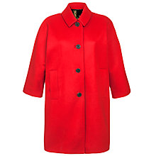 Buy Joules Sharbury Wool Coat, Red Online at johnlewis.com