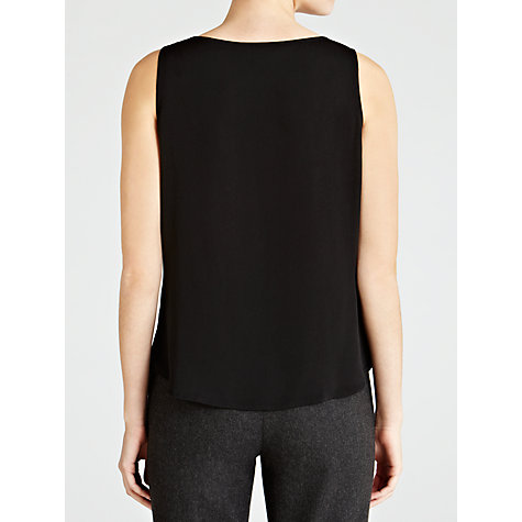 Buy Lauren by Ralph Lauren Fianna Pleated Front Blouse, Black Online at johnlewis.com