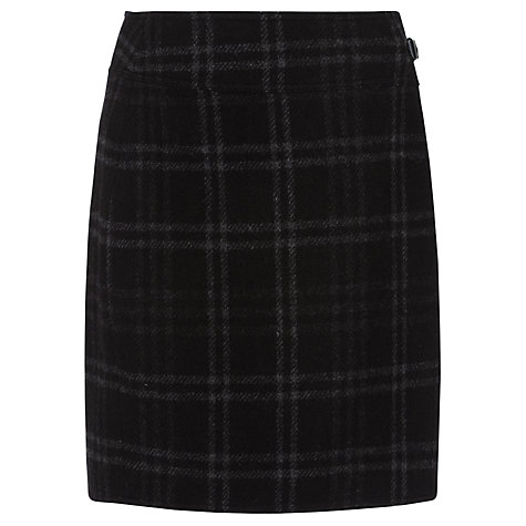 Buy Lauren by Ralph Lauren Buckled Plaid Wool Skirt, Black/Grey Online at johnlewis.com