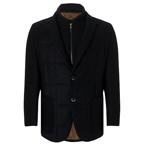 Buy Bugatti Quilted Wool Jacket, Navy Online at johnlewis.com