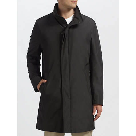 Buy Bugatti Technical Funnel Neck Coat, Black Online at johnlewis.com