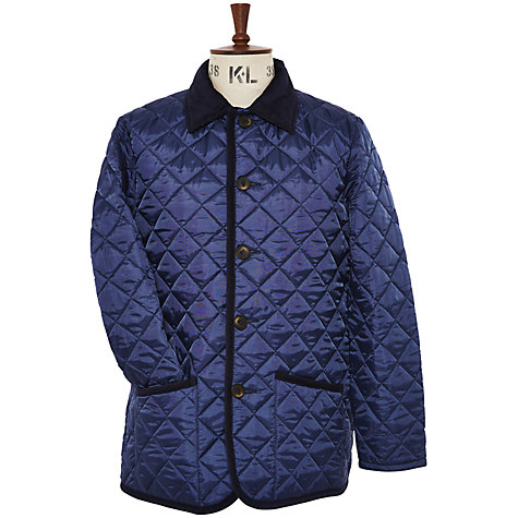 Buy Richard James Mayfair Quilted Jacket, Navy Online at johnlewis.com