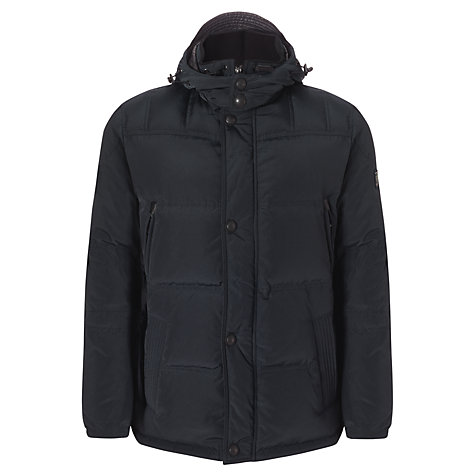 Buy Bugatti Down Quilted Jacket, Black Online at johnlewis.com