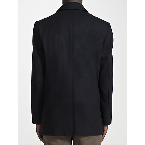 Buy John Lewis Classic Mid Length Car Coat, Navy Online at johnlewis.com