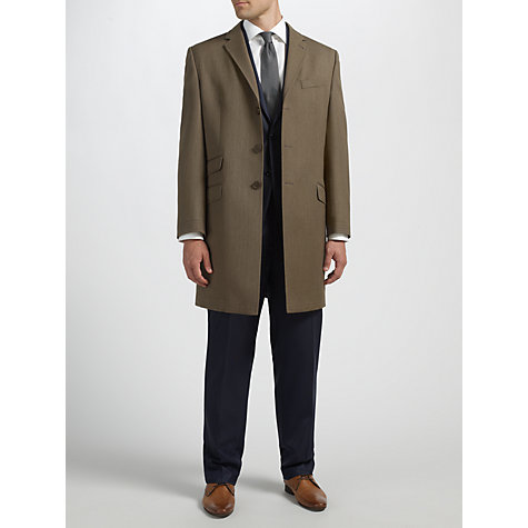 Buy Berwin & Berwin Covert Wool Overcoat, Brown Online at johnlewis.com