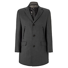 Buy Bugatti Technical Lined Wool Epsom Coat, Grey Online at johnlewis.com