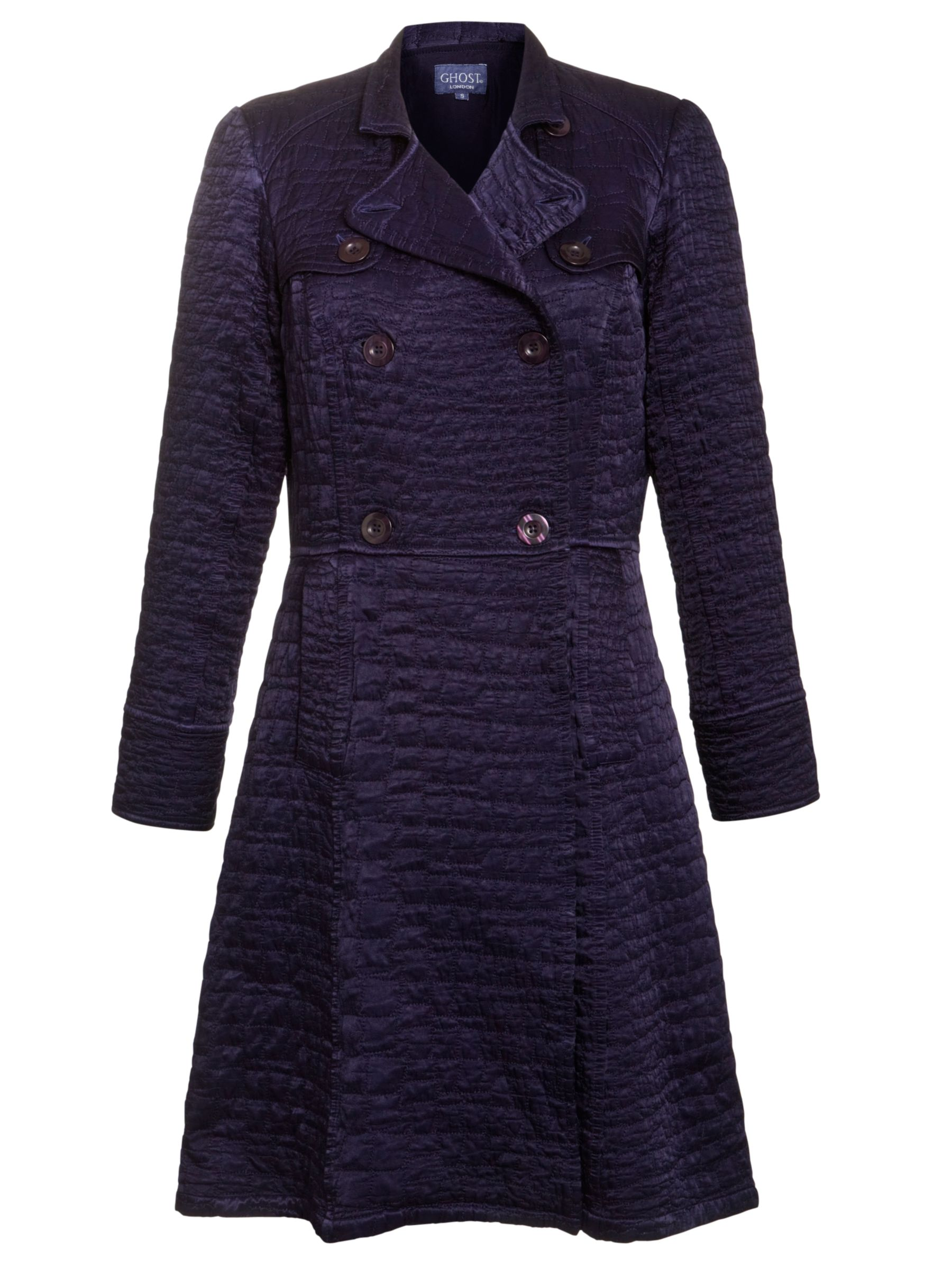 Ghost Emmie Quilted Coat, Foxglove