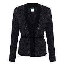 Buy Lauren by Ralph Lauren Baryss Button Front Cardigan, Black/Grey Online at johnlewis.com