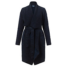 Buy Ghost Mika Quilted Floral Coat, Navy Online at johnlewis.com