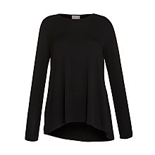 Buy Ghost Aura Boxey Fit Top, Black Online at johnlewis.com