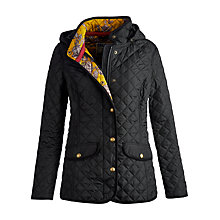 Buy Joules Marcotte Quilt Jacket, Black Online at johnlewis.com