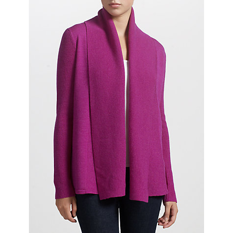 Buy Lauren by Ralph Lauren Open-Front Wool Cardigan, Athena Pink Online at johnlewis.com