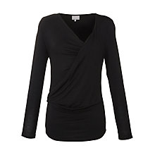 Buy Ghost Azalea Faux Wrap Top, Black Online at johnlewis.com