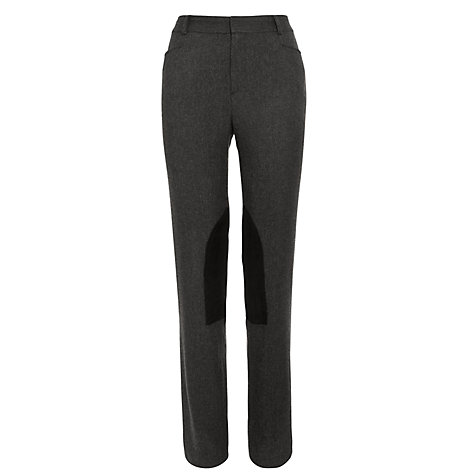 Buy Lauren by Ralph Lauren Nadige Knee Patch Trousers, Black/Grey Online at johnlewis.com