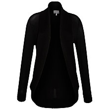 Buy Ghost Pippa Jersey Rib Cardigan, Black Online at johnlewis.com