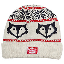 Buy Animal Fair Isle Nobeyama Beanie Hat, Cream Online at johnlewis.com