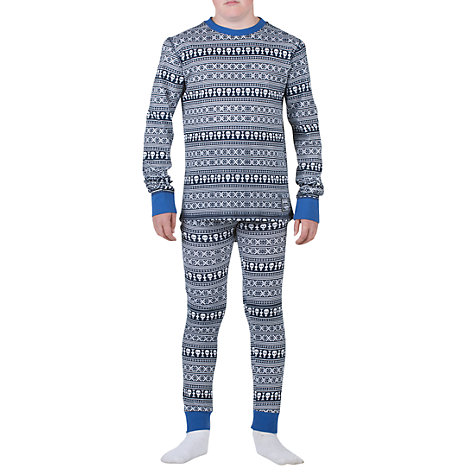 Buy Animal Boys' Powow Skull Long Sleeved Pyjamas, Navy Online at johnlewis.com