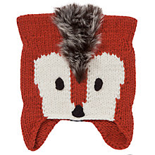Buy Animal Nozawa Fox Beanie Hat, Rust Online at johnlewis.com