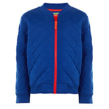 Buy John Lewis Boy Quilted Baseball Jacket, Blue Online at johnlewis.com