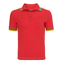 Buy John Lewis Boy Short Sleeve Tipped Polo Shirt, Jade Online at johnlewis.com