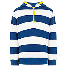Buy John Lewis Boy Bar Stripe Hoodie, Blue/White Online at johnlewis.com