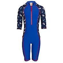 Buy John Lewis Boy Skull Print Sun Pro Suit, Blue Online at johnlewis.com