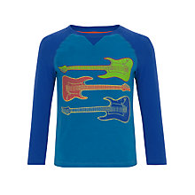 Buy John Lewis Boy Long Sleeve Guitar Top, Blue Online at johnlewis.com