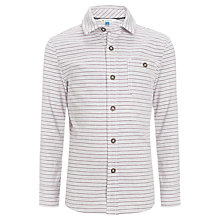 Buy John Lewis Boy Horizontal Stripe Shirt, White/Multi Online at johnlewis.com