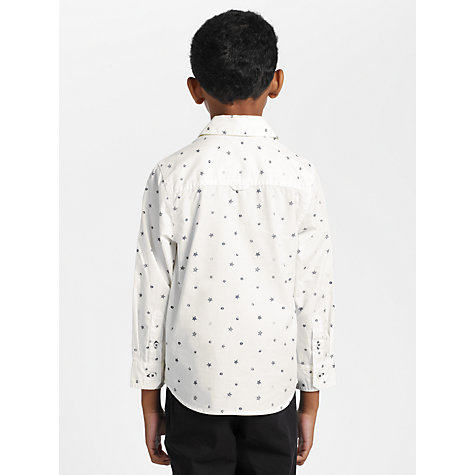 Buy John Lewis Boy Stars and Spots Long Sleeved Shirt, Cream Online at johnlewis.com