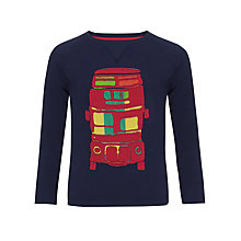 Buy John Lewis Boy Bus Long Sleeved Top, Navy Online at johnlewis.com