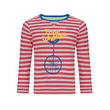 Buy John Lewis Boy Free Wheeler Long Sleeve Top, Red/Grey Marl Online at johnlewis.com