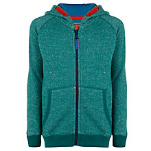 Buy John Lewis Boy Zip Through Flecked Hoodie, Green Online at johnlewis.com