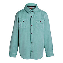 Buy John Lewis Boy Long Sleeved Twill Shirt, Green Online at johnlewis.com