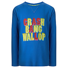 Buy John Lewis Boy Crash Bang Wallop Long Sleeve Top, Blue Online at johnlewis.com