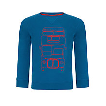 Buy John Lewis Boy Crew Neck Bus Jumper, Teal Online at johnlewis.com