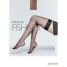 Buy John Lewis Fishnet Hold Ups, Black Online at johnlewis.com