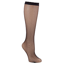 Buy John Lewis Knee High Fishnet Tights, Pack of 2, Black Online at johnlewis.com