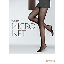 Buy John Lewis Micronet Tights, Black Online at johnlewis.com