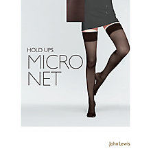 Buy John Lewis Micronet Hold Ups, Black Online at johnlewis.com